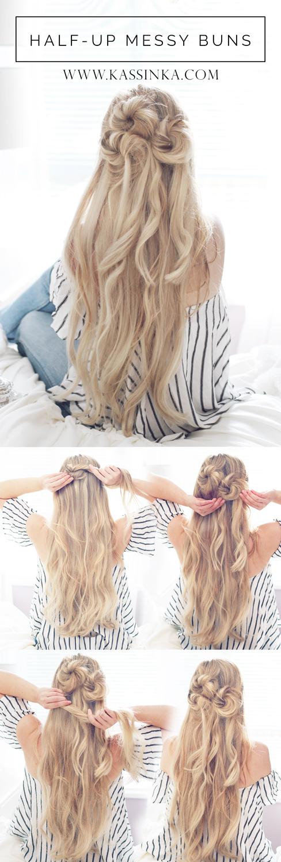 kassinka-half-up-messy-buns-hair-tutorial