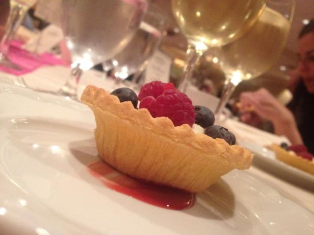 dessert - fruit tartlet, which wasn't any chocolate pie, that's for sure.