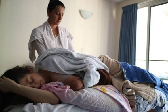 Getting a massage whilst breastfeeding... There's a first for everything I guess.