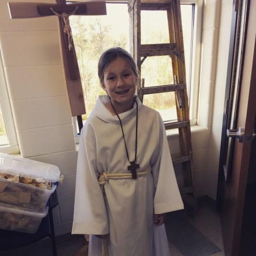 Madeline first time altar serving