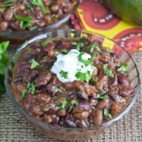 Three Bean Chili and a Chili Blog Hop