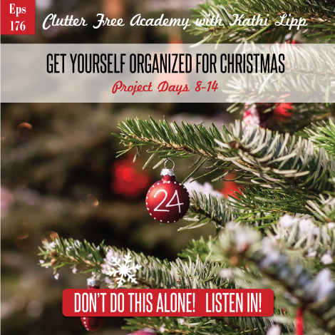 Episode #176-Get Yourself Organized for Christmas Projects 8-14