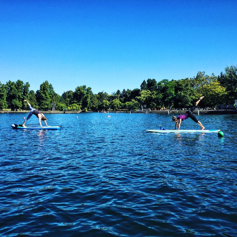 SUP Yoga on Greenlake