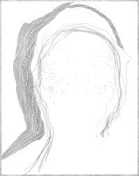 "traced head on paper. Graphite 14"" x 11"""