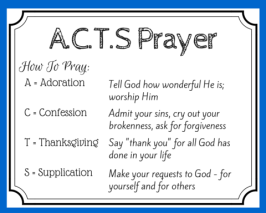 How to use the A.C.T.S. method of prayer to better understand the Lord's Prayer and pray as Jesus taught us to pray. (+ free printable prayer cards)