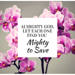 Prayer to the One Who is Mighty to Save