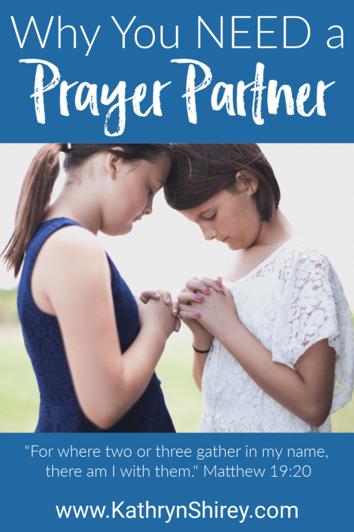 5 reasons you need a prayer partner. Praying together amplifies your prayers. Learn 5 reasons a prayer partner will enhance your prayer life, how to find a prayer partner, and prayer partner ideas for praying together.