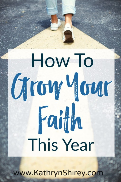 Want to grow your faith this year? Be intentional. Set spiritual growth goals to grow closer to God. Don't miss these 4 spiritual growth goals this year!