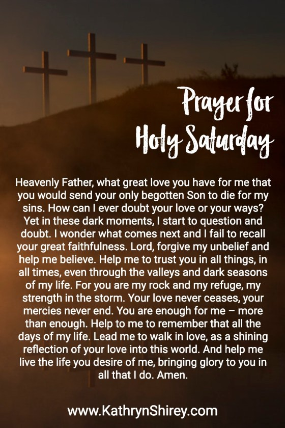 Prayer for Holy Saturday | Holy Week Prayer