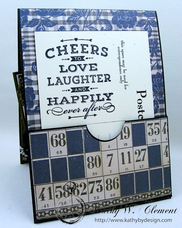 Dapper Wedding Card by Kathy Clement for Funkie Junkie Boutique 08