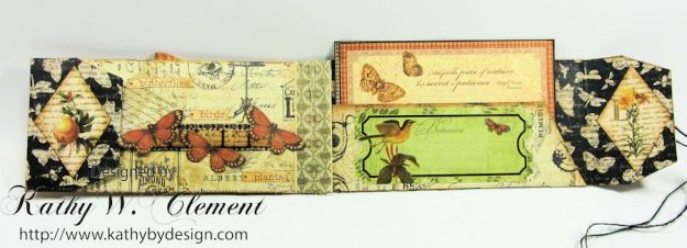 GSL Steampunk Butterfly Gift Wallet Tutorial by Kathy Clement for Gypsy Soul Laser Cuts Product by Graphic 45 DIY and Botanicabella Papers 06