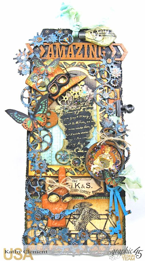 Steampunk Debutante Tag Folio by Kathy Clement for Gypsy Soul Lasercuts Product Graphic 45 Steampunk Debutante 02