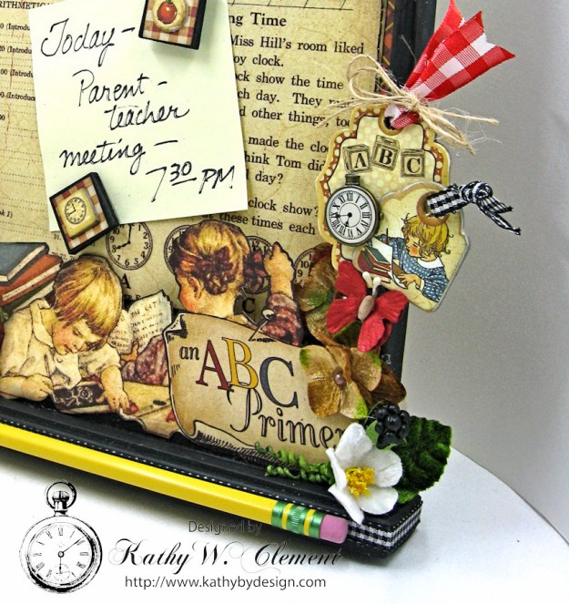 Petaloo Goes Back to School Message Board, ABC Primer, By Kathy Clement, Product by Petaloo and Graphic 45 Photo 2
