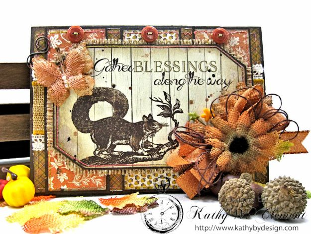 Gather Blessings Along the Way Woodland Card, Kathy Clement, photo-1