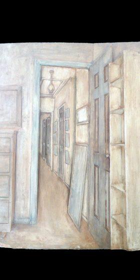 Hallway, 2003-04 Earthenware & pigment 30 x 23 x 3.5 inches