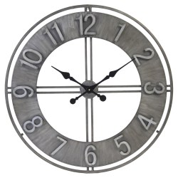 Grande Randal Industrial Loft Grey Iron Wall Clock Designer Wall Clocks Eclectic Wall Clocks Kathy Kuo Home Designer Wall Clocks Living Room Designer Wall Clocks Hyderabad