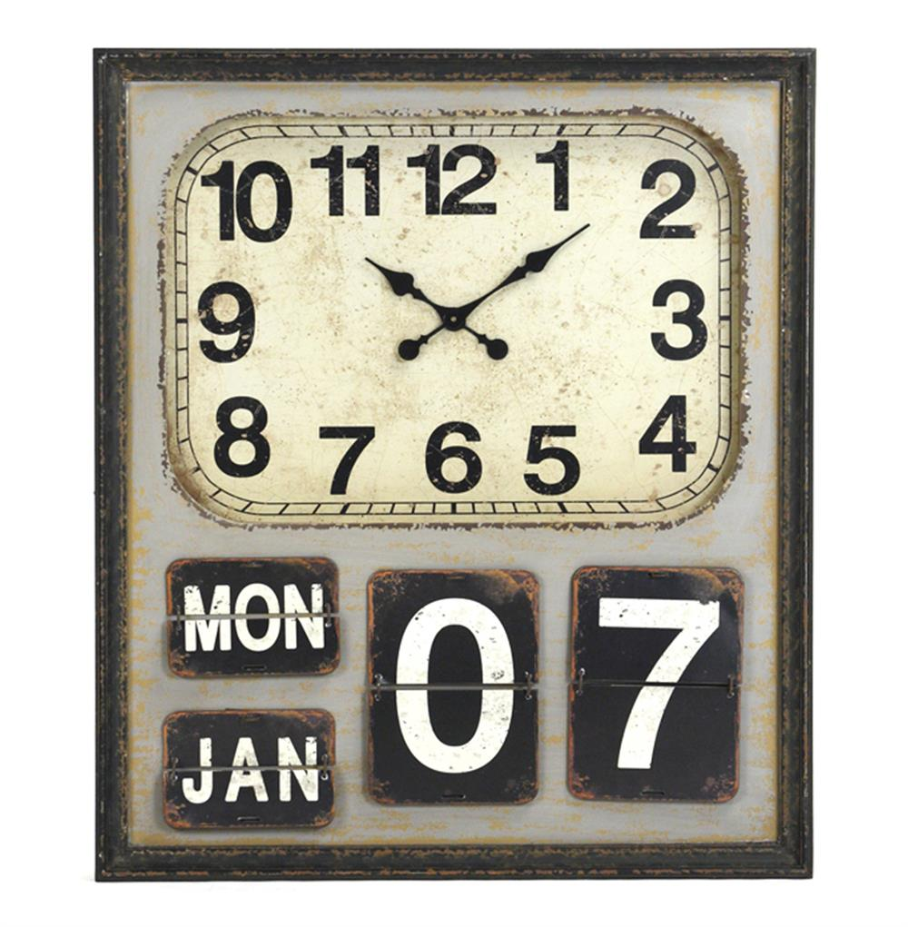 Decent Rustic Industrial Loft Wooden Wall Clock Kathy Kuo Home Industrial Wall Clock Australia Industrial Wall Clock Vintage furniture Wall Clock Industrial