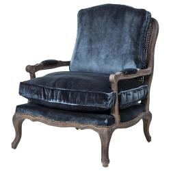 Small Crop Of Velvet Chair With Ottoman