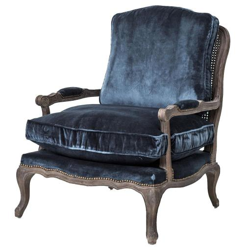 Medium Of Velvet Chair With Ottoman