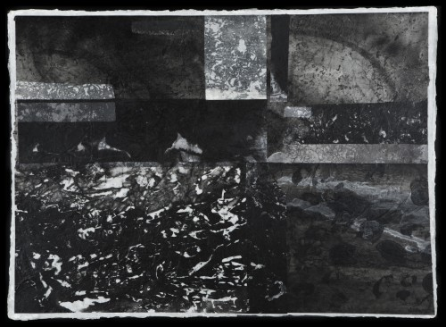 """Tidelands Inks, wax, rice papers and handmade papers 32""""w x 21""""h"""