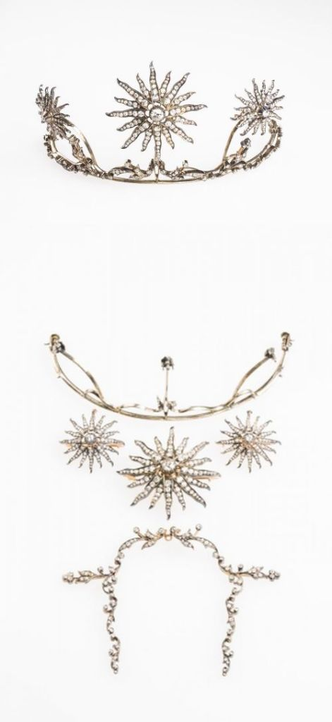 Victorian Convertible Tiara Necklace Brooch