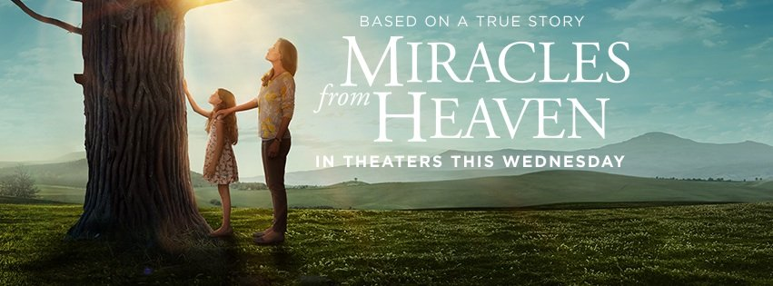 Miracles from Heaven movie from movie Facebook page