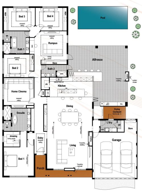 Medium Of 4 Bedroom Floor Plans