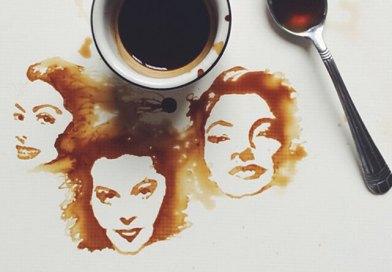 Festmények kávéból