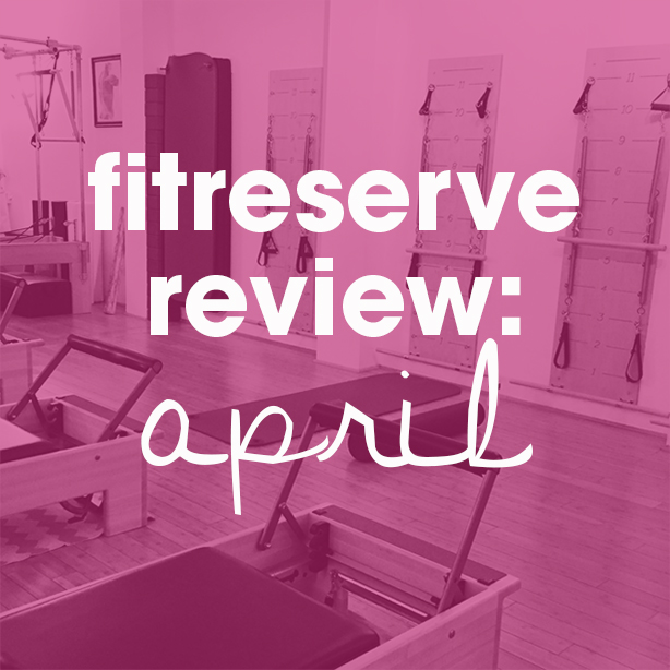 Fitreserve Review: April Workouts