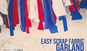 Easy Scrap Fabric Garland | 4th of July Ideas
