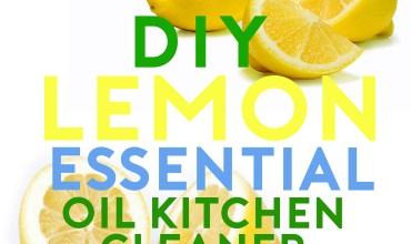 DIY Lemon Essential Oil Kitchen Counter Cleaner