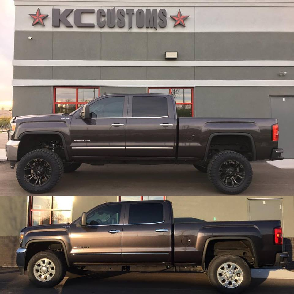 Chevy   GMC   Gallery Before and after 2015 GMC 2500HD