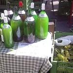 Bottles of Sturm at Karmeliter Market in Vienna's 2nd District