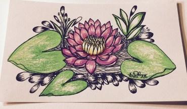 Kc Doodle Art Zen Woman Doodle