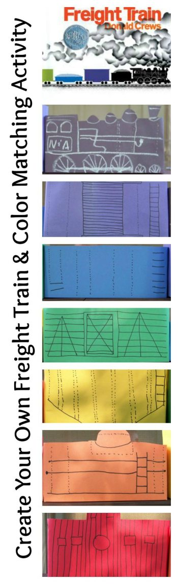Create Your Own Freight Train & Color Matching Activity