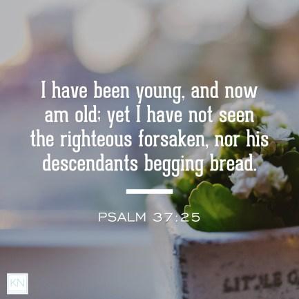 Pursuing What Is Excellent -- Psalm 37 twenty-five