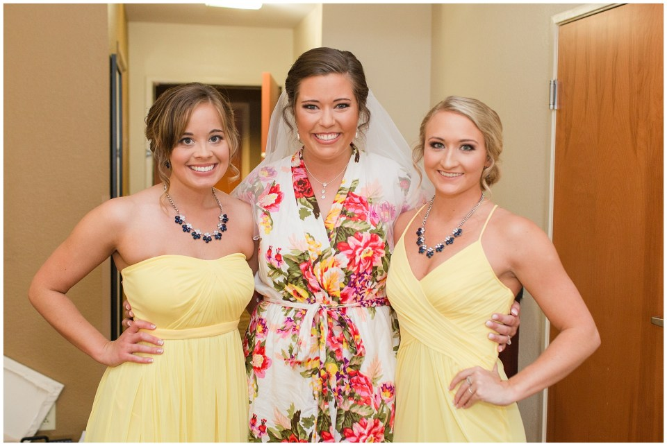 bride and her new sisters