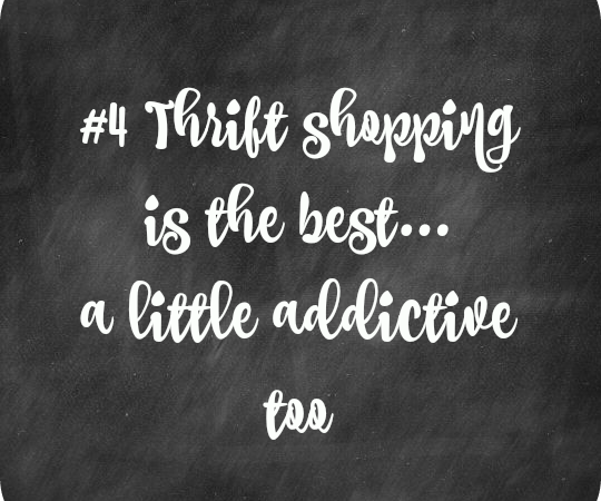 Thrift store shopping is the best…a little addictive too -30 Days to 49…