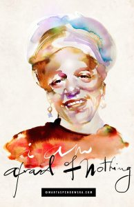 Audre Lorde, Afraid of Nothing, Watercolour Illustration by Marta Spendowska