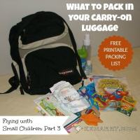 Carry-on Luggage: What to Pack for Babies and Small Children