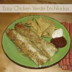 Easy Chicken Verde Enchiladas: Only 5 Ingredients!