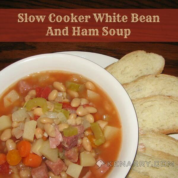 Slow Cooker White Bean and Ham Soup aka