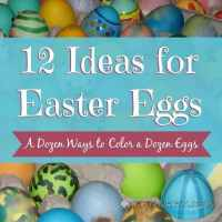 Coloring Easter Eggs: A Dozen Ways to Color a Dozen Eggs