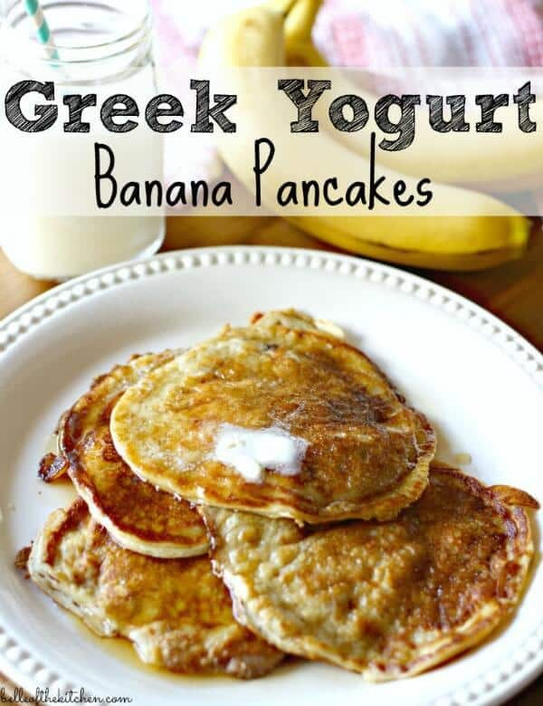 Greek Yogurt Banana Pancakes - Belle of the Kitchen