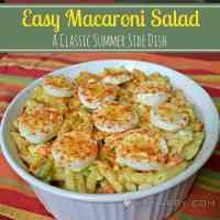 Easy Macaroni Salad: Classic Summer Potluck Recipe