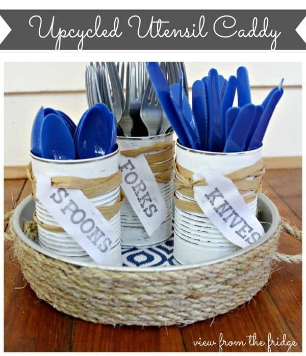 Upcycled Utensil Caddy from View from the Fridge