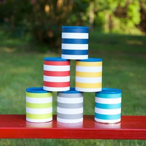 Tin Can Toss Game from Crafts by Courtney