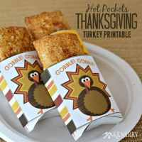 Easy Snacks for Thanksgiving: Hot Pockets Free Printable