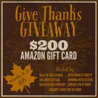 Give Thanks Giveaway: $200 Amazon eGift Card