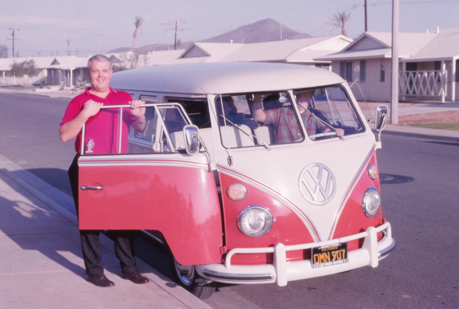 Dad with VW Van